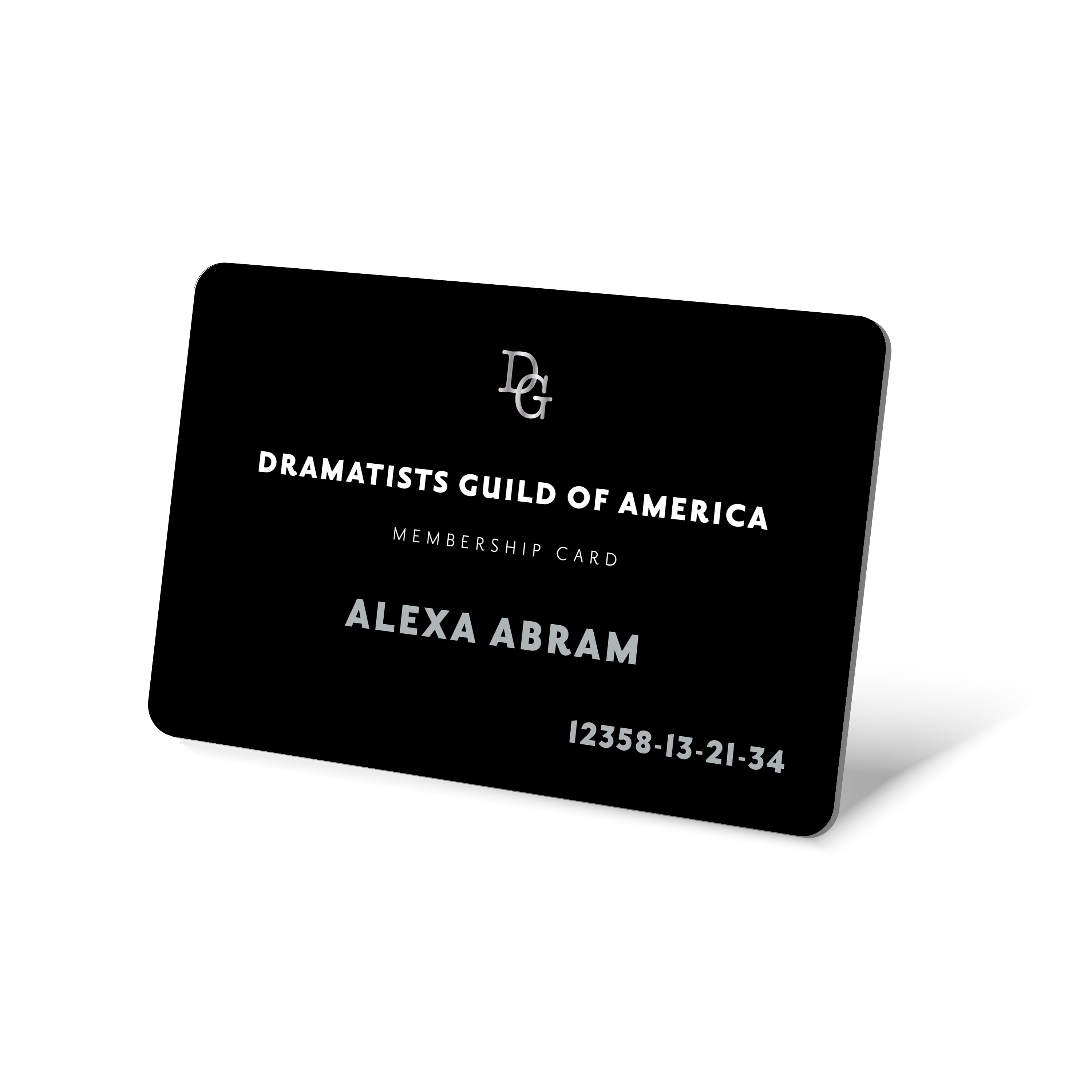 Picture of black DG Member Card